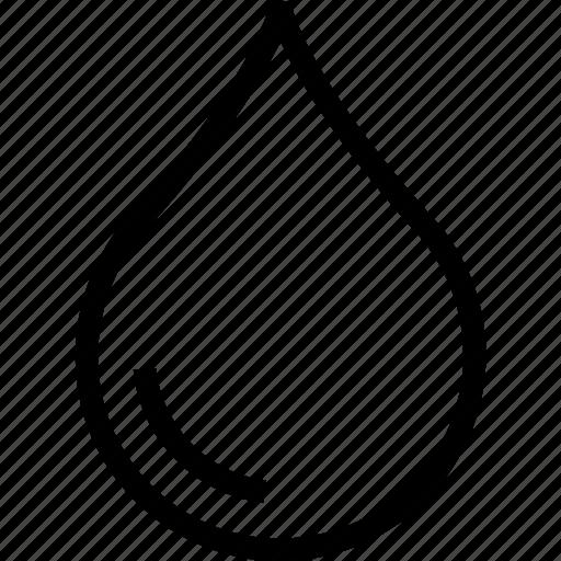 drop, liquid, rain, raindrop, teardrop, water icon icon