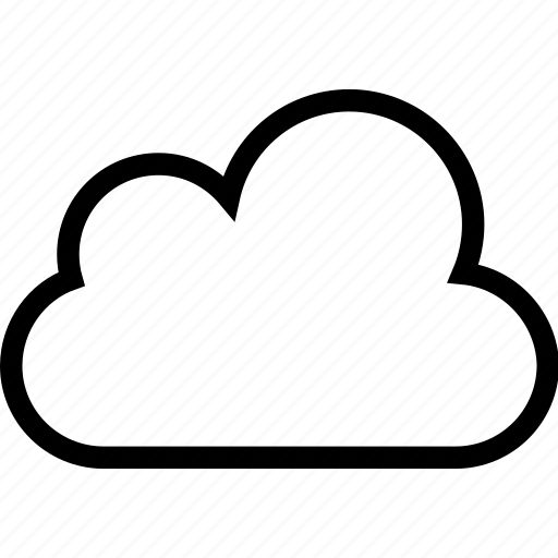 cloud, cloud computing, clouds, cloudy, sky, storage, weather icon icon