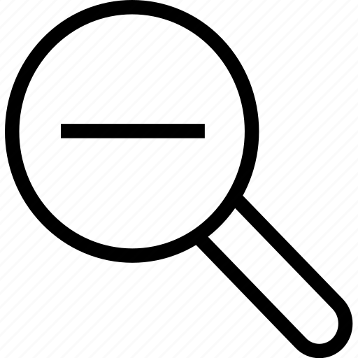 detective, glass, magnifier, magnifying, out, search, zoom icon icon