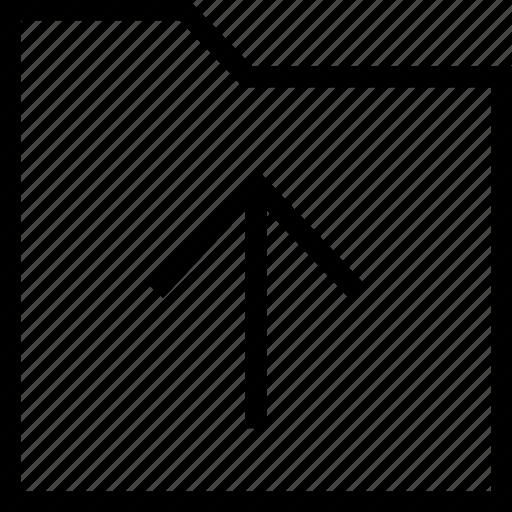 arrows, direction, folder, up, up arrow, upload, uploading icon