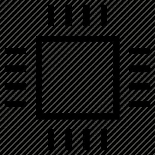 computer, cpu, electronic, microchip, processor icon, sys icon