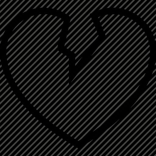 break, dumped, heart, heartbreaker, heartbroken icon icon