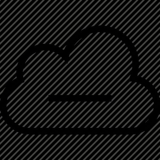 cloud, delete, minus, remove icon icon