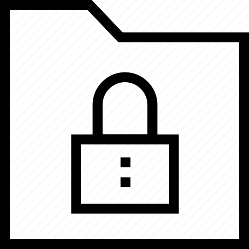 collection, data, folder, group, locked, secure, security icon