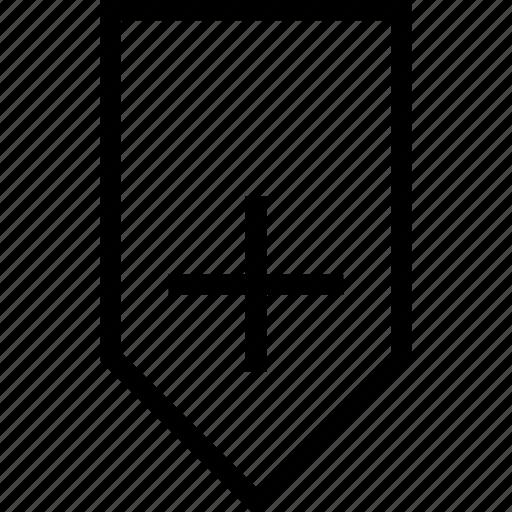 add, badge, bookmark, mark, ribbon, save icon icon
