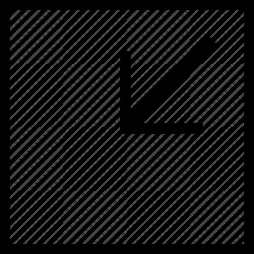 arrow, minimize, reduce, shrink icon icon