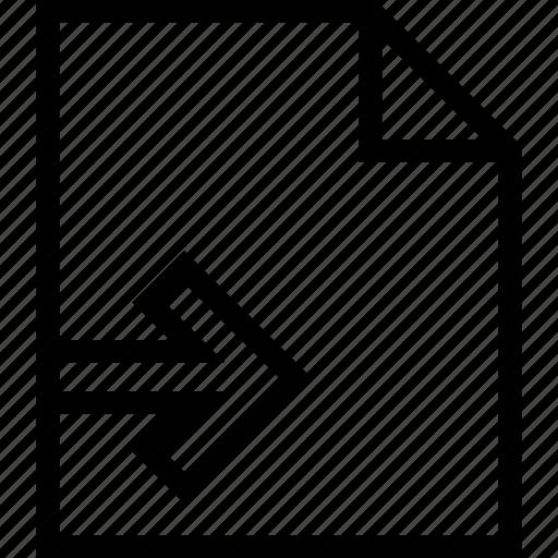 contract, document, file, paper, send icon icon