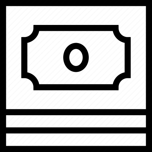 cash, dollar, earnings, money, profit, savings, stack icon icon