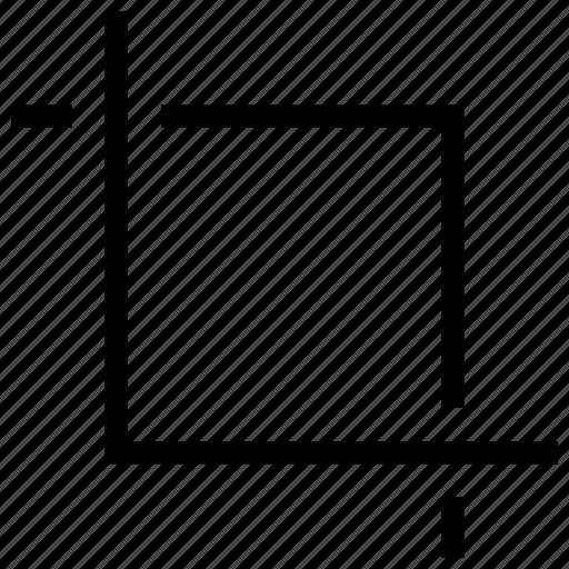 crop, design, tool, transform icon icon
