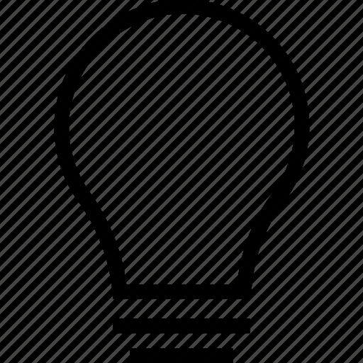 bright, bulb icon, idea, lightbulb, solution icon icon