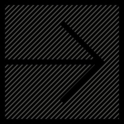 arrow, arrow right, direction, navigation, next, right icon icon