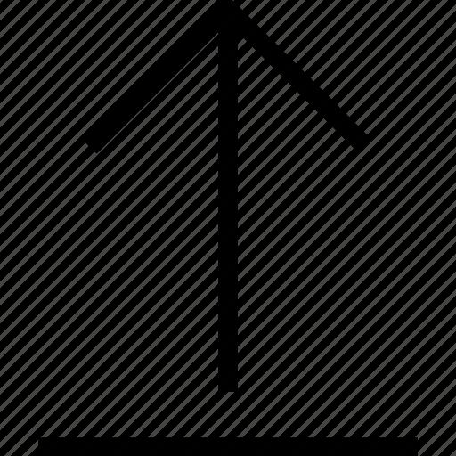 arrow, direction, navigation, up, upload icon, uploading icon