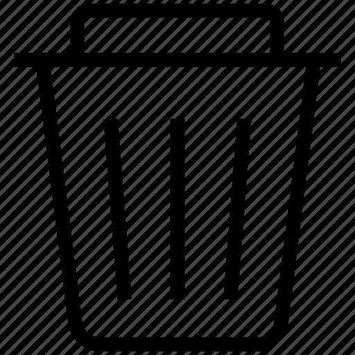 delete, dustbin, empty, recycle, recycling, remove, trash icon icon
