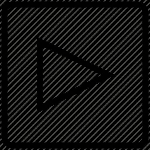 arrow, film, movie, play, player, start, video icon icon