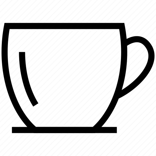 coffee, glass, handle, tea, tea cup icon icon