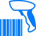 bar code scanner, bar-code, barcode, blue, price code, scan barcode, scanner, sell, shopping icon