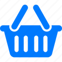 basket, blue, buy, cart, check out, chip basket, ecommerce, sell, shopping, webshop icon