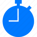 alarm, blue, clock, meter, sport, time, timer, wait, watch icon