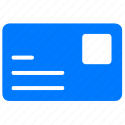 blue, congrate, congratulation, credit, email, letter, mail, message, open card, post card, postal, postcard icon