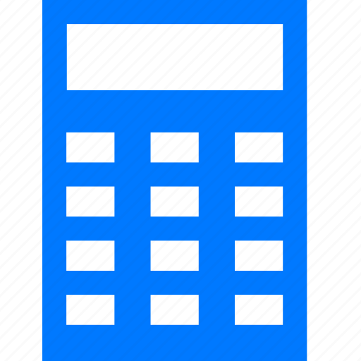 blue, business, calc, calculate, calculation, calculator, debit, math icon