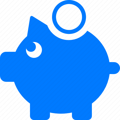 bank, blue, business, cash, coin, currency, dollar, finance, money, moneybox, piggy, safe, storage, thrift-box icon