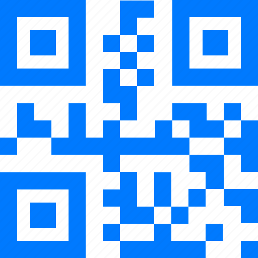 blue, code, encode, mobile code, qr, qr-code icon