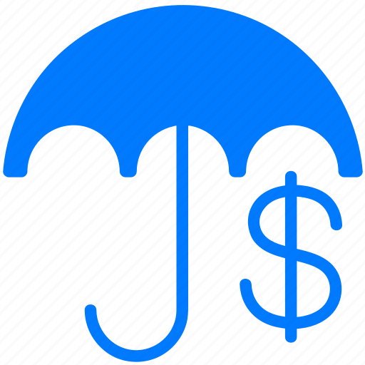 cash, coin, currency, dollars, dough, finance, financial, insurance, money, protection, secure, security, umbrella icon