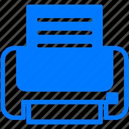document, files, print, printer, printing icon