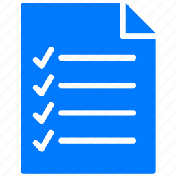 blue, checklist, document, documents, file, files, list, menu, page, paper, text, todo icon