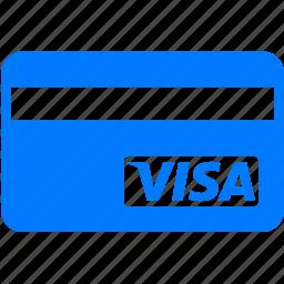account, bank, banking card, card, cards, credit, credit card, finance, payment, visa, visa card icon