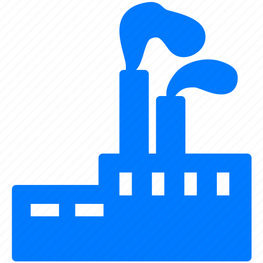 dirty, factory, industrial, industry, plant, production, smoke icon