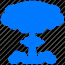 atom, atomic, burn, explosion, fire, hiroshima, machroom, nuclear, radiation, radioactive icon