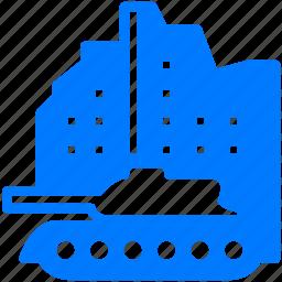 battle, destroy, military, tank, transport, truck, war, warfare, warhead, weapon icon