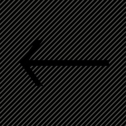 Back, arrow, previous icon