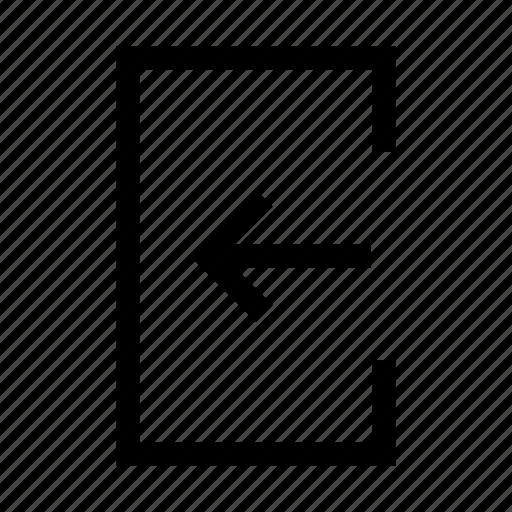 common, enter, login, signin icon