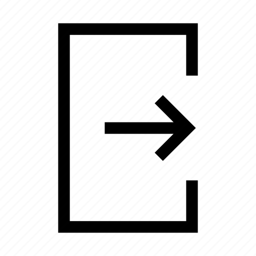 common, exit, logout, signout icon