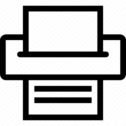 common, print, printer icon