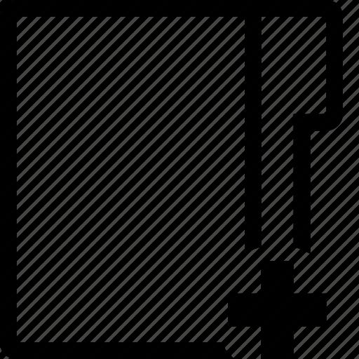 add, editor, folder icon