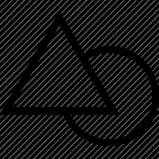 circle, design, editor, shape, triangle icon