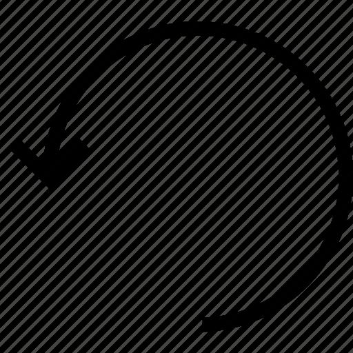 arrow, editor, undo icon