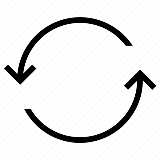 backup, circle, sync icon