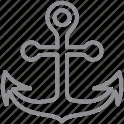 anchor, ballast, captain, cruise, industry, link, marina, marine, maritime, nautical, navy, port, sea, seaport, ship, shipping, transit, transportation, travel icon