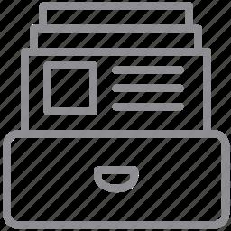 bigdata, cardfile, data, storage icon