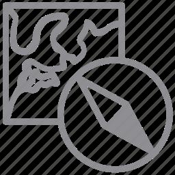 base, compass, gps, location, map, marker, navigate, navigation, orienteering, pin, safari icon