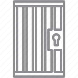 cage, danger, death, door, exit, jail, poison, prison, warning icon