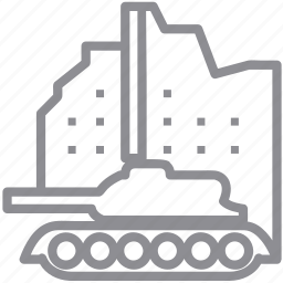destroy, military, tank, transport, truck, war, warfare, weapon icon