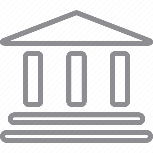 bank, building, business, classic, columns, finance, historical, history, home, house, library, money, office icon