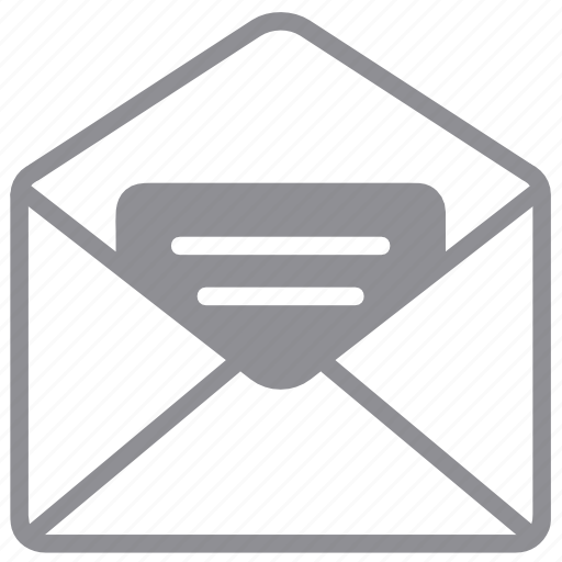 document, email, envelope, letter, mail, message, open, open mail icon