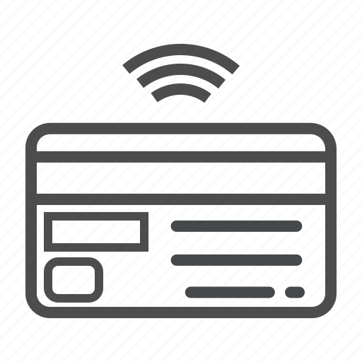 card, credit, internet of things, iot, wifi icon