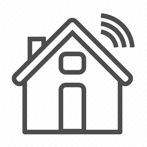 home, house, internet of things, iot, wifi icon